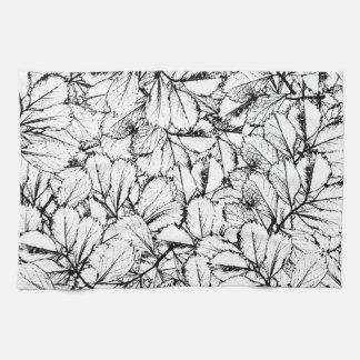 White Leaves Tea Towel