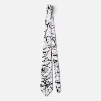 White Leaves Tie