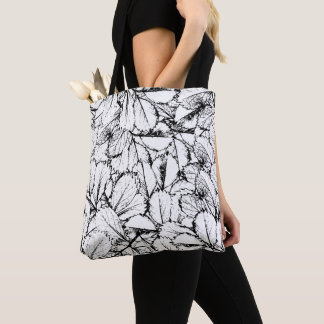 White Leaves Tote Bag