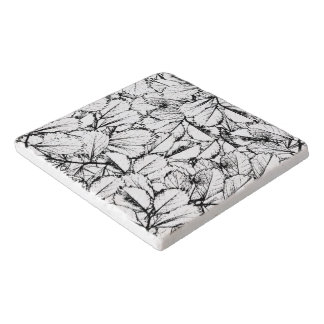 White Leaves Trivet