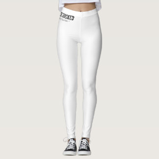 White Leggings with Logo on Waist