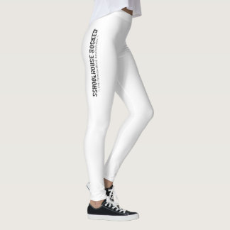 White Leggings with Vertical Logo