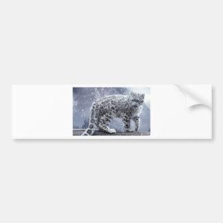 White Leopard On A Branch Bumper Sticker