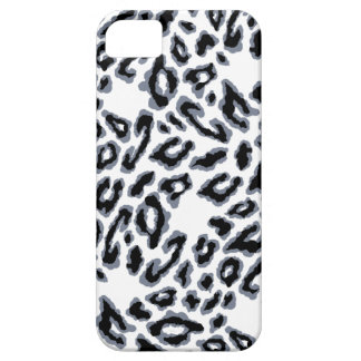 White Leopard Print iPhone 5 Case