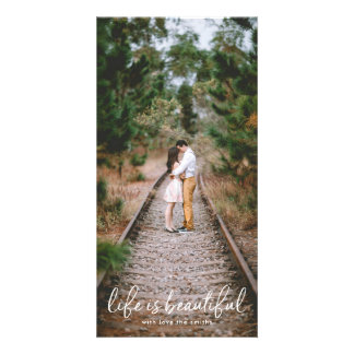 White Lettering Holiday Christmas Photo Card