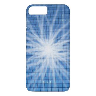 White Light Burst Blue Skyscraper iPhone 7 Plus Case