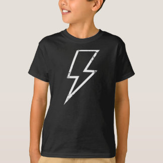 White lightening bolt outline shirt