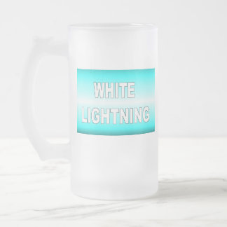 White Lightning Frosted Glass Beer Mug