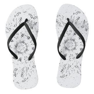 White Lights Flip Flops