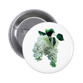 White Lilacs 6 Cm Round Badge