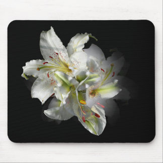 White Lilies Fantasy Mouse Pad