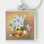 White Lilies keychain