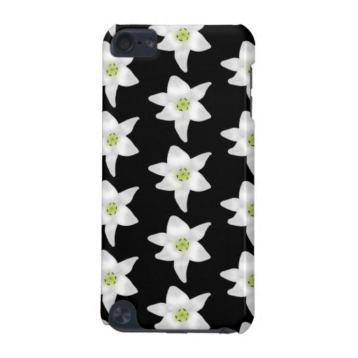 White Lilies on Black. iPod Touch (5th Generation) Cases