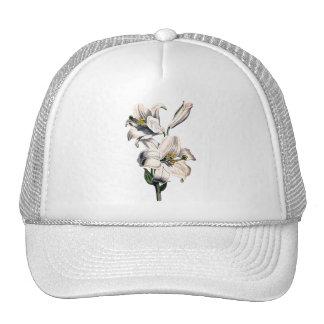 WHITE LILIES Trucker Hat