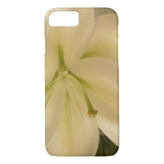 White Lillum Flower Apple iPhone 7, Barely There iPhone 8/7 Case