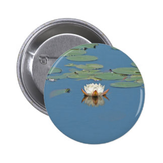 White Lilly Pad Pin