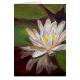 White Lily Blank Card
