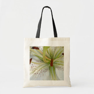 White Lily Close Up Tote Bag