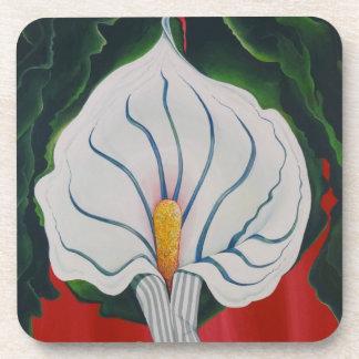 White Lily Coaster Set of 6