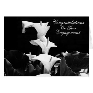 White Lily Engagement Card