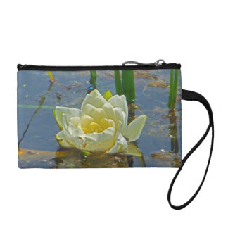 White Lily Flower Coin Purses