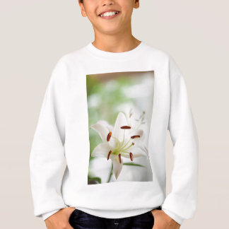White Lily Flower Fully Open Sweatshirt