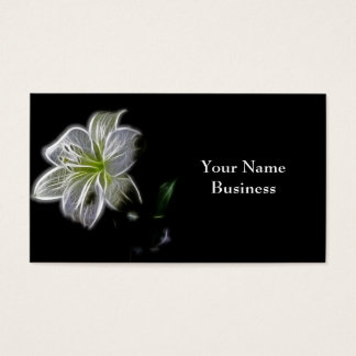 White Lily Fractal Art Business Cards