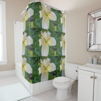 White Lily III Shower Curtain