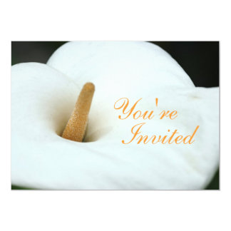 White Lily Invitation