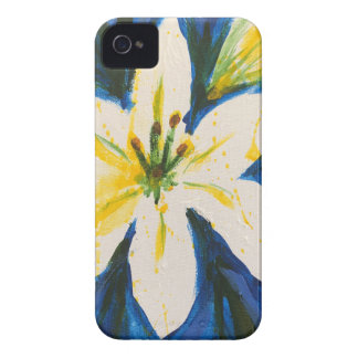 White Lily on Blue Collection by Jane Case-Mate iPhone 4 Case