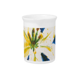 White Lily on Blue Collection by Jane Pitcher