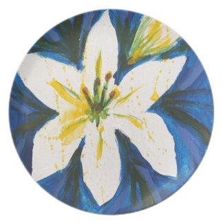White Lily on Blue Collection by Jane Plate