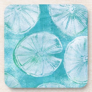 White lily pads coaster