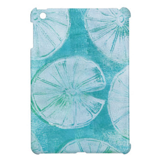 White lily pads iPad mini cover