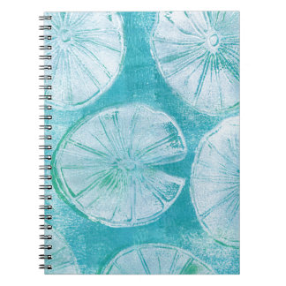 White lily pads notebooks