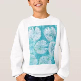 White lily pads sweatshirt