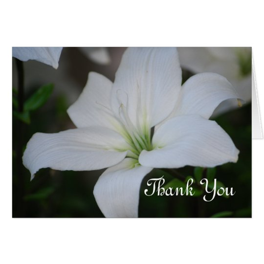 White Lily Thank You Card