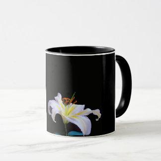 White Lilys image for Black Combo Mug