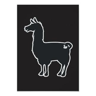 White Line Llama Invitation