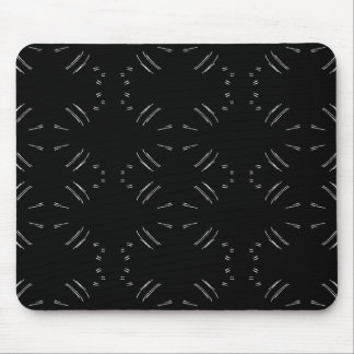 White Lines Mouse Pad
