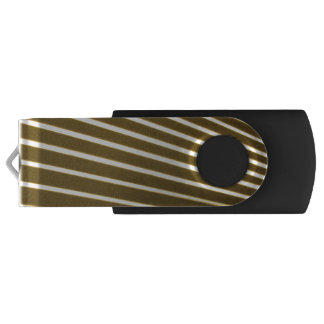 White Lines USB Flash Drive Swivel USB 3.0 Flash Drive