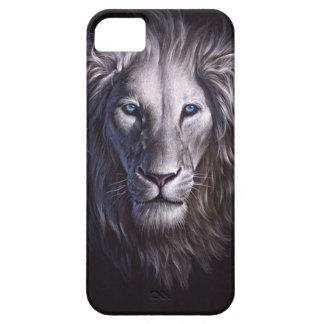 White Lion Face Portrait iPhone 5 Case