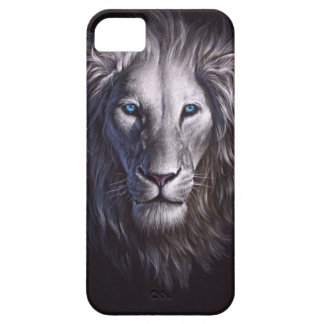 White Lion Face Portrait iPhone 5 Covers