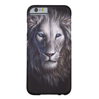 White Lion Face Portrait iPhone 6 Case