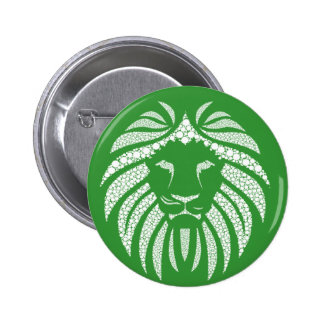 White Lion Head Print Pin On Any Color Background