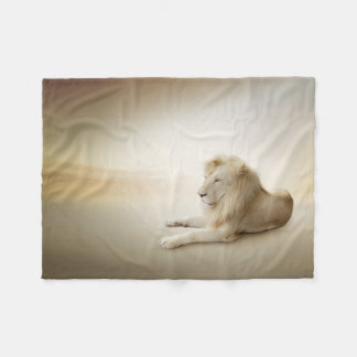 White Lion Small Fleece Blanket