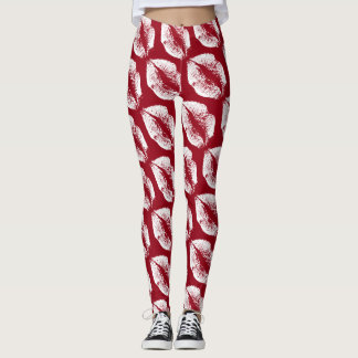 White Lips Modern Auburn Leggings