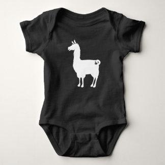 White Llama Baby Bodysuit