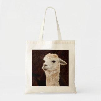 White Llama Budget Tote Bag
