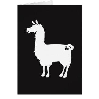 White Llama Greeting Card